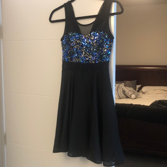Charlotte Russe Blue Sparkle Dress M